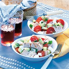 This seafood salad is picnic-perfect. #myplate #protein #vegetables #dairy