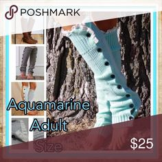 Aquamarine Buttoned Down Leg Warmers Women Long solid button down Lace Knitted Leg Warmers boot cuff lace knit leg warmers  Description 100% New and high quality. Hot, Sexy, Wild ,Charming,Exquisite Smooth and soft feeling          Elasticity  Knitted           Both warm and thick texture, warm wearing. ❄️️PRICE IS FIRM UNLESS BUNDLED❄️️ Accessories Hosiery & Socks
