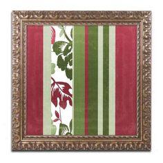 Trademark Fine Art Woodlands Christmas IV Canvas Art by Color Bakery Gold Ornate Frame, Assorted