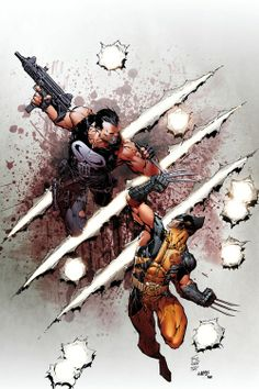 PUNISHER vs. WOLVERINE by •Marc Silvestri
