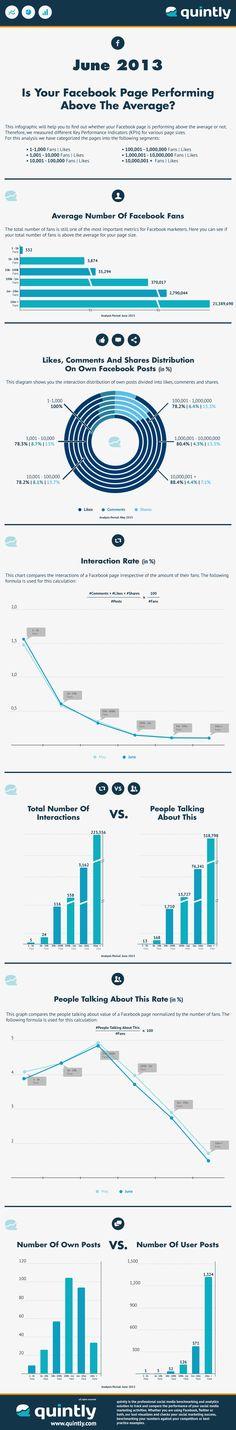 Durchschliche Performance von Facebook Seiten 2013