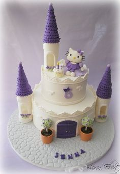 Hello Kitty Castle Cake  Cake by TheBakingSheet