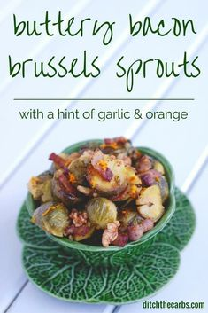 This recipe for Buttery Bacon Brussels Sprouts could change your mind. What's not to love about dousing sprouts in bacon and butter and walnuts to garnish. An easy way to jazz up Brussels sprouts. Bacon Recipes, Vegetable Recipes, Low Carb Recipes, Real Food Recipes, Cooking Recipes, Easy Cooking, Paleo Recipes, Free Recipes, Yummy Recipes