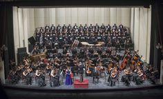 Concierto 3. Orquesta Filarmónica de Santiago. Coro del Teatro Municipal de Santiago. Director musical: José Luis Domínguez. Foto: Patricio Melo