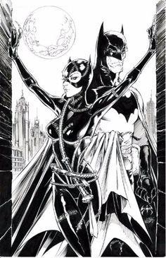Batman and Catwoman Joe Benitez and Joe Weems Comic Art - Batman Poster - Trending Batman Poster. - Batman and Catwoman Joe Benitez and Joe Weems Comic Art Batman Love, Im Batman, Batman Art, Batman Comics, Superman, Comic Book Artists, Comic Book Heroes, Comic Artist, Comic Books Art