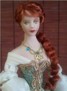 how to: pattern and tutorial to dress and wig 1/12th scale doll (gown inspired by The Chronicles of Narnia)