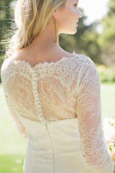 Heavenly lace: http://www.stylemepretty.com/2013/07/29/peach-inspiration-shoot-from-carlie-statsky/ | Photography: Carlie Statsky - http://www.carliestatsky.com/