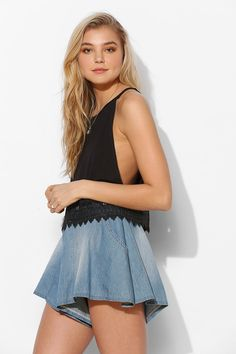 Pins And Needles Open-Side Tank Top - Urban Outfitters
