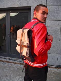 cross-straps on backpack