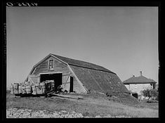 Potato storage barn on a field near Caribou, Maine. Caribou Maine, Potato Storage, Acadie, Northern Maine, Barn Storage, Bangor, Hotel Motel, Beautiful Places, The Past