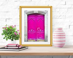 Paris Photograph -- Pink Doors -- Travel Photography -- 8 X 10 Inch Print by HistoryinHighHeels on Etsy https://www.etsy.com/listing/226458993/paris-photograph-pink-doors-travel