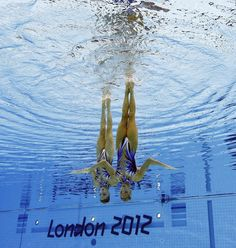 Olivia Federici and Jenna Randall, London 2012 Olympics Syncronized Swimming - Image by Mark J. Terrill / AP