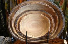 Peterson wooden bowls at Diving Cat Studio Gallery in Phoenixville http://www.divingcatstudio.com/