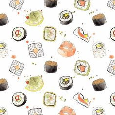 Sushi pattern design by Giorgia Bressan