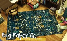 Roli Cannoli CC Findz Corner — leafbatsims: ✨ Flowery Embroidery Rug Paper Co. Sims Four, Sims 4 Mm Cc, Muebles Sims 4 Cc, Sims 4 House Design, Sims 4 Gameplay, Sims Building, Play Sims, Sims 4 Characters, Sims 4 Cc Packs