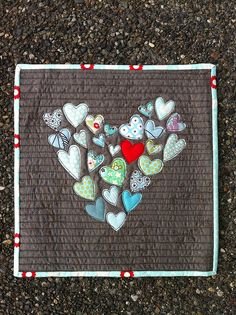 Old baby clothes #heart #quilt, too cute!