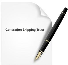 A generation skipping trust places assets in a trust designed to transfer them to a grantor's grandchildren, rather than children, in order to avoid estate taxes that occur if the deceased's children directly inherit the assets. www.notary.net/websites/roundrocknotary