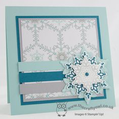 Festive Flurry Merry Monday Challenge Festive Flurry Stamp set and framelits, candy dots, Winter Frost Joanne James, Stampin' Up Demonstrator, www.blog.thecraftyowl.co.uk
