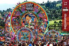 From @tikaltextiles: Today! #Giant #Kites of #Guatemala #Sumpango #ILoveAntigua #AmoAntigua #Travel http://OkAntigua.com