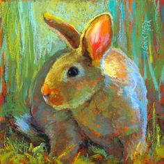 "Daily Paintworks - ""Hunter"" - Original Fine Art for Sale - © Rita Kirkman Art And Illustration, Animal Paintings, Animal Drawings, Pop Art, Rabbit Art, Easter Art, Bunny Art, Fine Art Auctions, Watercolor Art"