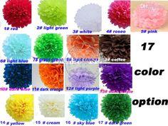 13cm=5 inch Tissue Paper Flowers balls lanterns Party Decor Craft For Wedding Decoration multi color option wholesale