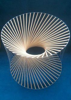 More tensegrity variations Folding Architecture, Minimalist Architecture, Art And Architecture, Geometric Sculpture, Abstract Sculpture, Spiral Staircase Plan, Lotus Flower Design, Steel Art, Red Art