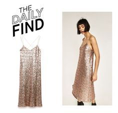 """The Daily Find: Zara Sequin Dress"" by polyvore-editorial ❤ liked on Polyvore featuring DailyFind"