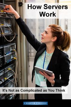 Not sure what a server is or how it works? We can help! Click through to learn more!   If you want to know even more – ask our IT students, faculty or staff (or enroll yourself)!