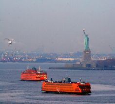 Staten Island Ferry is free. It runs every half hour and gets close enough to the statue of liberty to get a good picture! And you get to see the downtown Manhattan skyline. Liberty New York, Staten Island Ferry, I Love Nyc, Manhattan Skyline, New York Travel, Best Cities, In This World, Statue Of Liberty, New York City