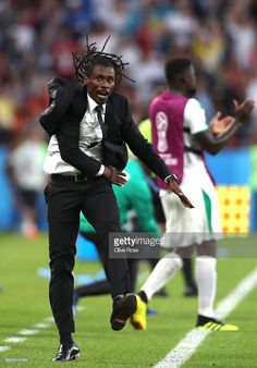 Aliou Cisse, Head coach of Senegal celebrates after his team's second goal during the 2018 FIFA World Cup Russia group H match between Japan and Senegal at Ekaterinburg Arena on June 24, 2018 in Yekaterinburg, Russia.
