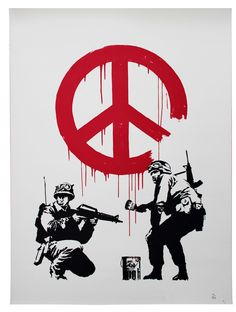 Banksy ~ CND Soldiers, 2005 (screenprint)