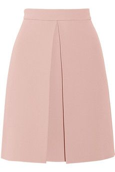 Gucci Pleated crepe skirt. Wear it with a tucked-in blouse, adding sandals and a clutch post-six. | NET-A-PORTER