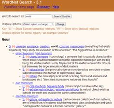 WordNet and the World at http://blog.gistik.com/post/74160141892/wordnet-and-the-world