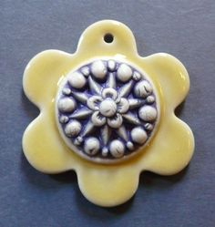 Image of Happy Flower Layered Pendant in Lemon & Lavender - #3