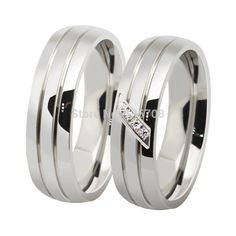 Fashion Titanium Steel Couple Rings Set Jewelry Rings for Men Women Engagement Wedding Ring Stainless Steel Wedding Bands, Stainless Steel Rings, Couple Jewelry, Couple Rings, Band Engagement Ring, Engagement Jewelry, Bride Earrings, Women's Earrings, Promise Rings For Guys