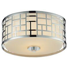 Z-Lite Elea 2-light Chrome Flush Mount Ceiling Fixture with Matte Opal Glass | Overstock.com Shopping - Big Discounts on Flush Mounts