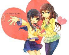 Corpse Party Fanart Ayumi Shinozaki and her sister