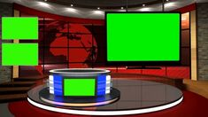 Free Green Screen News Studio With Desk Green Background Video, Iphone Background Images, Best Background Images, Free Green Screen Backgrounds, New Backgrounds, Chroma Key, Dark Room Photography, Virtual Studio, Tv Set Design