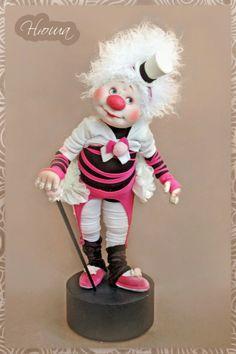 Авторские куклы Светланы Михайловой. Жил на арене рыжий клоун...