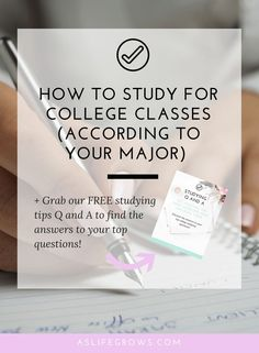 Learn how to study for college classes specifically for five of the top college majors! All of these tips have been tested by students in each major!