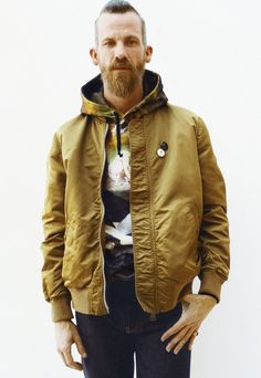 Starring Supreme regular Jason Dill, the lookbook includes impressive pieces, some done in collaboration with brands like Schott & Champion.