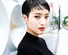 Short Pixie, Pixie Cut, Short Hair Cuts, Short Hair Styles, Girls Short Haircuts, Short Girls, Very Short Hair, Japanese Hairstyle, Japanese Girl