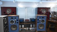 JBL 4344 Speakers with KRS Artificial Leather Surrounds Perfect Restored...