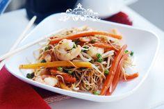 Chili prawn rice noodles