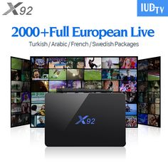 X92 Smart Android TV Set Top Box 3G 32G S912 IPTV Box Arabic French Sports iptv Europe IUDTV QHDTV IPTV Subscription 1 Year