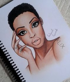 Good morning - I wish you a beautiful day! Embrace your TWA! Please feel free to tag (Bottle Sketch Drawings) Black Girl Art, Black Women Art, Black Girls, African American Art, African Art, Natural Hair Art, Natural Hair Styles, Black Art Pictures, By Any Means Necessary