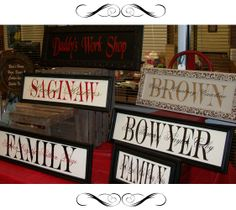 Say it with Vinyl! Great website for customized signs and much more!