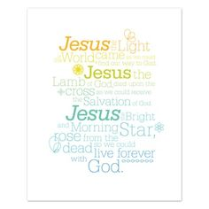 Jesus - Light of the World - lovely graphic.  I couldn't get the link to work, though.
