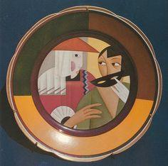 Aleksandra Beļcova. Maska. 1925. porcelāns