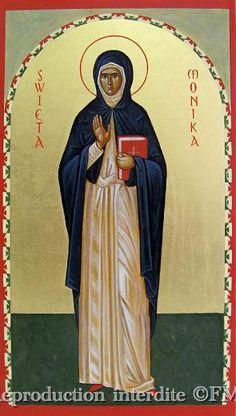 St Monica, Orthodox Icons, Narnia, Saints, Statue, Painting, Women, Art, Byzantine Icons